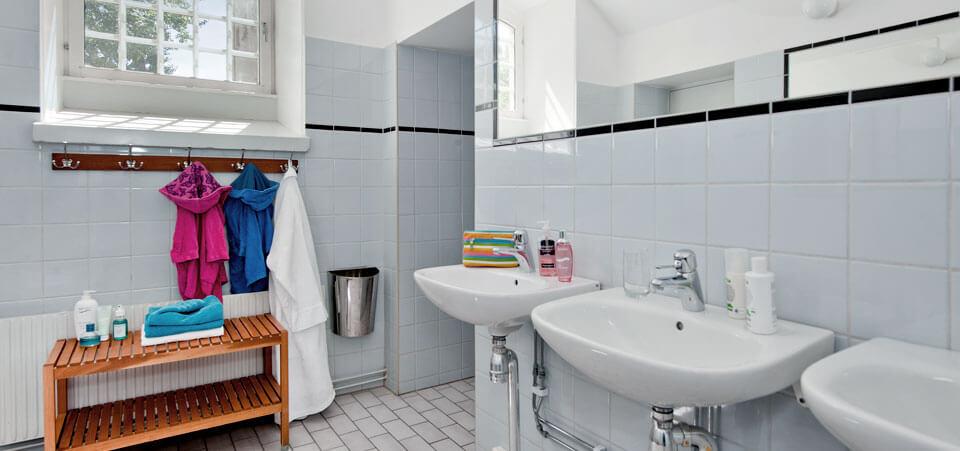 Delat badrum på Långholmens Vandrarhem