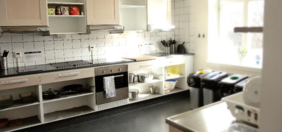 Gemensamt kök på Långholmens Vandrarhem